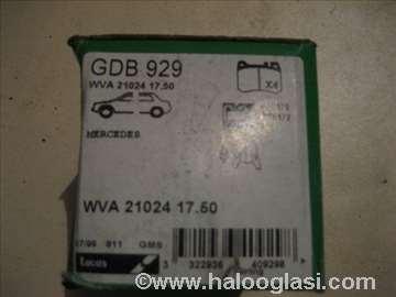 Disk plocice mercedes gdb929