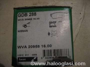 Disk plocice nissan gdb288