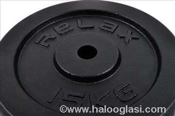 Tegovi 2x15kg crni standardni liveni RX PL01-15
