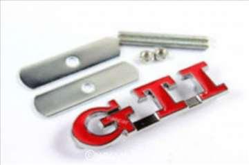 WV GTI znak metalni originalni