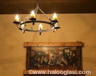 Etno i rustični lusteri i lampe