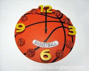 Košarka zidni sat - novo