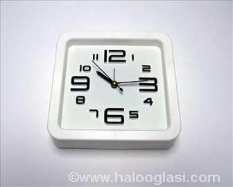 Zidni sat + budilnik BELI NOVO