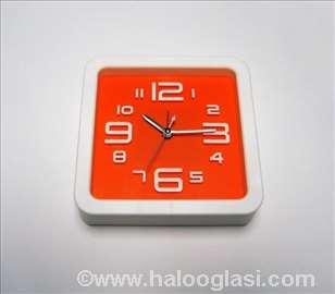 Zidni sat + budilnik narandžasti nov