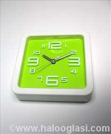 Zidni sat + budilnik, zeleni, novo