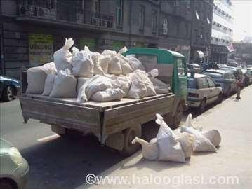 Prevoz peska, jedinice, šljunka, šuta i drugo