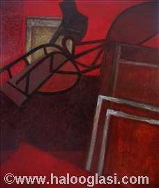 Crveni podrum, ulje na platnu,160x136cm 2002.godin