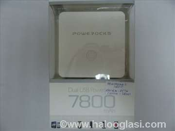 Dual USB power bank Powerocks 7800mAh