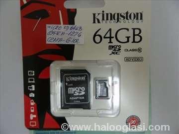 Kingston MicroSD card 64GB