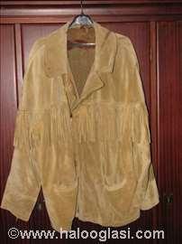 Kožna jakna sa resama
