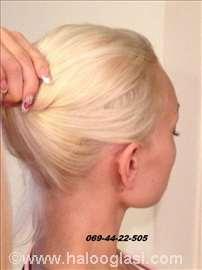 Nadogradnja kose, prirodnom kosom Crystal