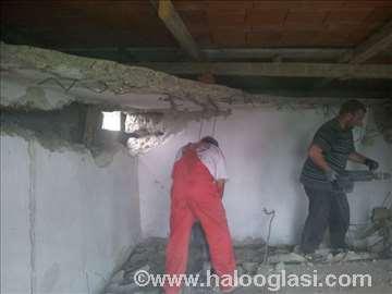 Beton bušenje, sečenje, rušenje