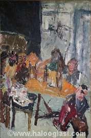 Društvo u  klasi, 104x69cm, ulje na platnu, 1995.