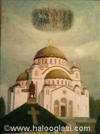 Hram Svetog Save sa ustanicima Karađorđa na nebu
