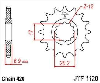 Prednji lančanik JTF1120,12 zuba