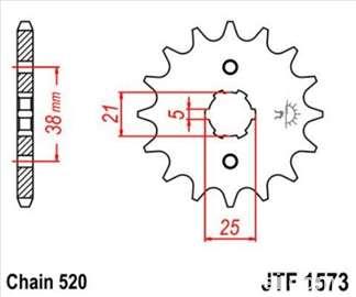 Prednji lančanik JTF573 14 zuba