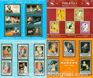LOT, 16 tabli markica (poštanske marke)