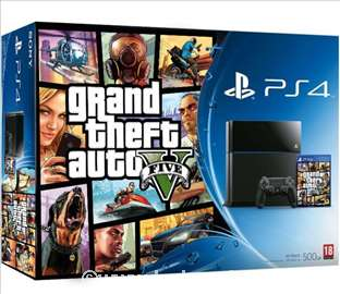 Konzola Sony PlayStation 4, 500G + igra GTA V
