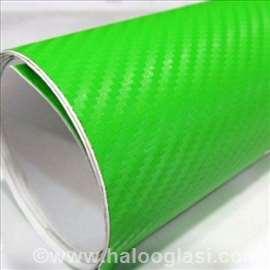 Carbon 3D BUBBLE FREE zeleni (kawasaki)