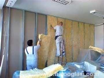 Spušteni plafoni, pregradni zidovi, obloge zidova
