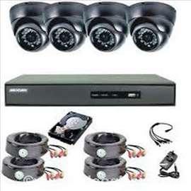 DVR+HDD+4 kamere 700tvl SonyCCD+ugradnja