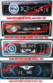 Auto Radio USB, SD - vise modela