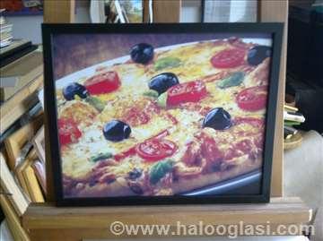 Pizza 1 - uramljen poster