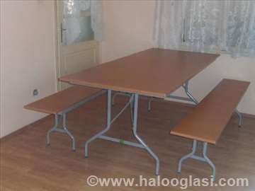 Sklopivi stolovi i klupe