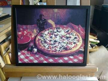 Pizza 3 - uramljen poster