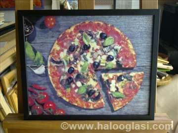 Pizza 4 -uramljen poster