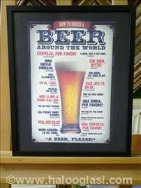 Kako se kaže pivo-uramljen poster