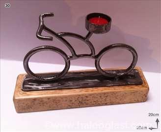 Svećnjak biciklo, metal