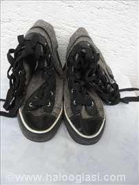 Dečje ženske čizme, br.36, platno veštačka koža