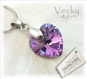 Swarovski ogrlica srce VL 1cm