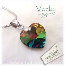 Swarovski ogrlica Srce VM 2cm