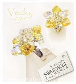 Swarovski prsten cvet ABYL