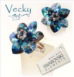 Swarovski prsten cvet BB