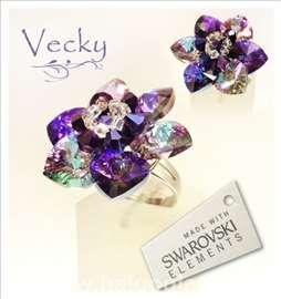 Swarovski prsten cvet VLHT
