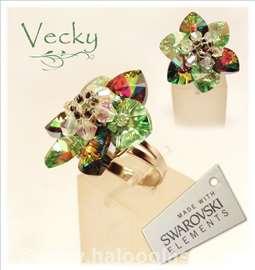 Swarovski prsten cvet VM