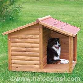 Drvena kućica za pse sa terasom