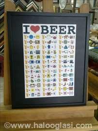 Ako volite pivo... - uramljen poster