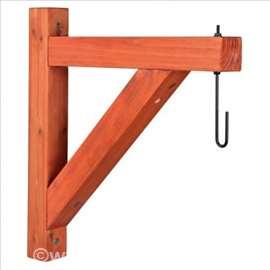 Drveni zidni držač za kačenje hranilica