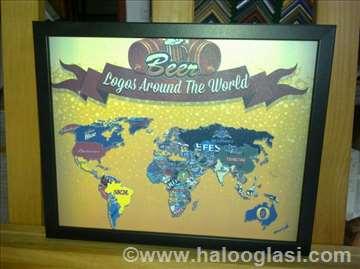 Poster - Pivska mapa sveta manji