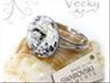 Swarovski prsten 12mm  CR
