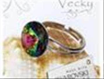 Swarovski prsten 12mm  VM