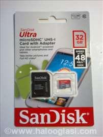 SanDisc micro SDHC 32GB najbrža novo