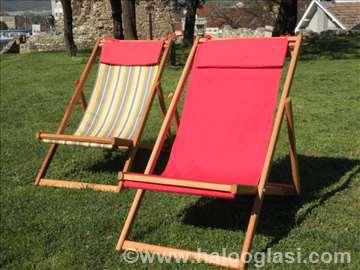 Rasklapajuća stolica za plažu, baštu i balkon
