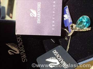 Swarovski ogrlica plava sa mašnom !