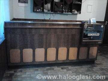 Oprem za kafanu, šank, stolovi i stolice