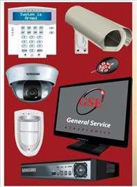 Kamere, alarmi, protivpožarni sistemi ...